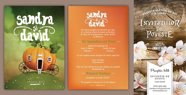 Pupmpkin Hill - Wedding Invitation - www.yankoo.ro