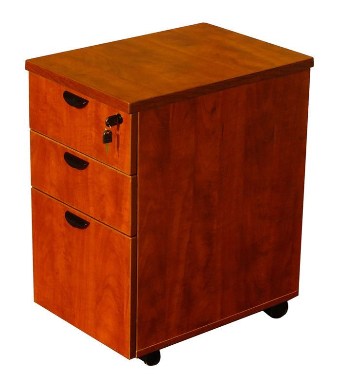 Boss Office Products N148H-C Boss Mobile Pedestal Box/Box/File,Honey Comb Packing, Cherry