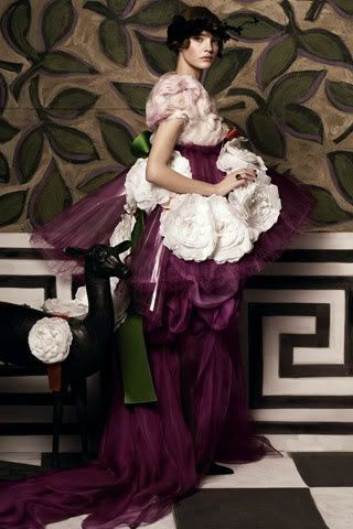 Designer work inspired by 1900s or 1910s silhouette: Hommage to Paul Poiret, Vogue August 2012