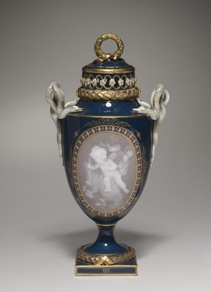 Covered Vase, 1881 made by Meissen Porcelain Factory (German)
