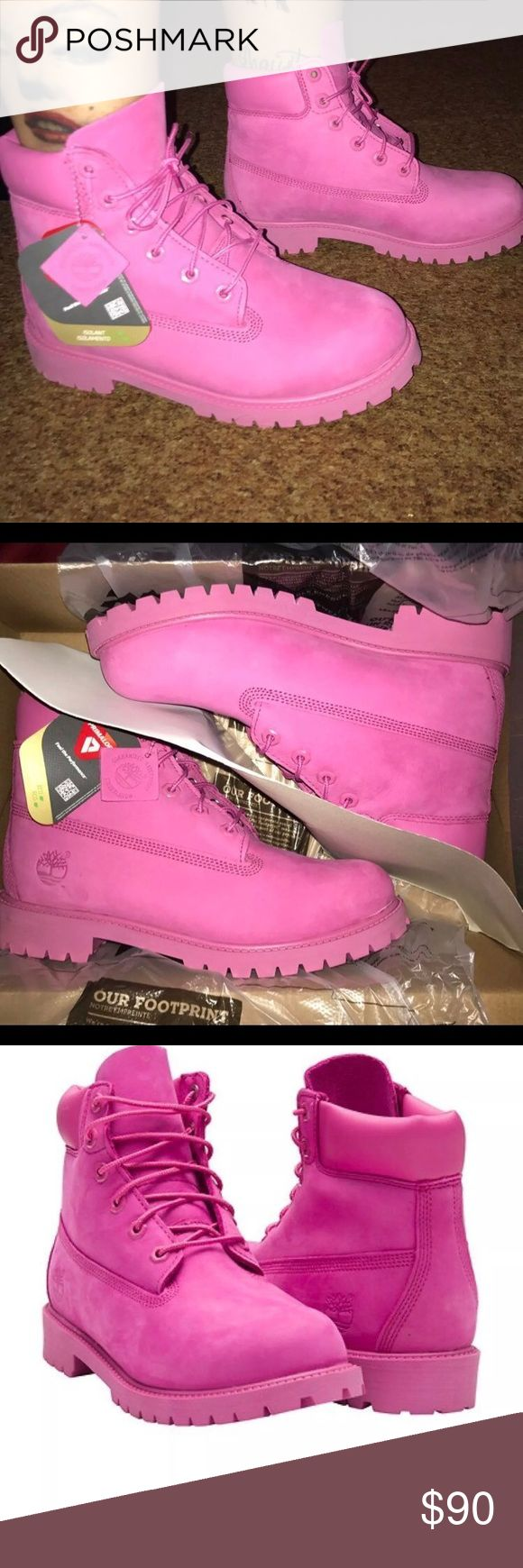Bubble gum pink Timberland boots Boys grade school size Timberland Shoes Boots