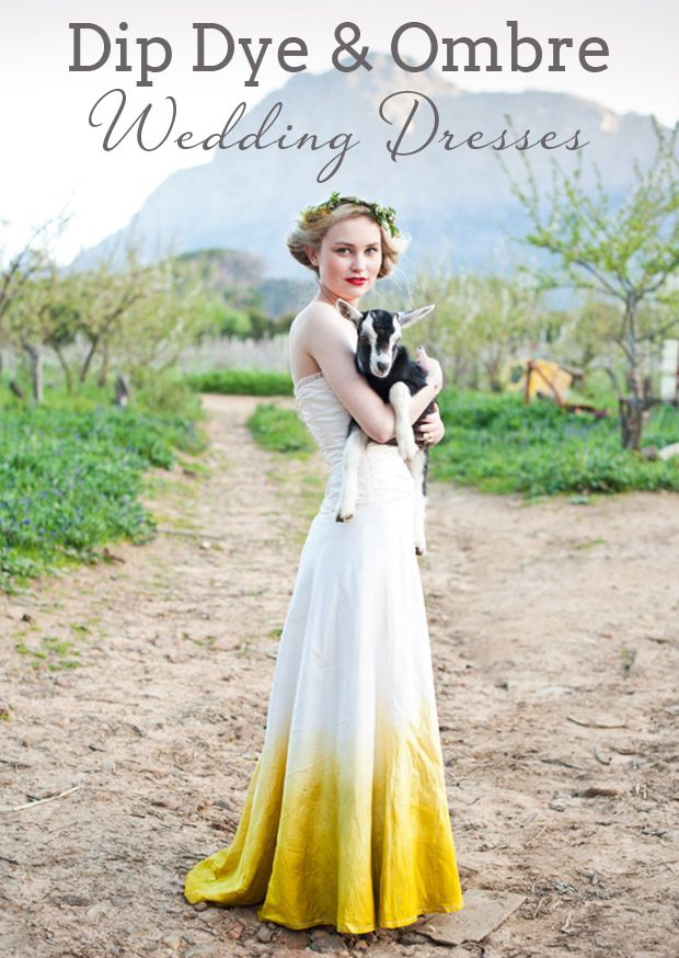 Dip Dye Ombre Wedding Dresses Dress