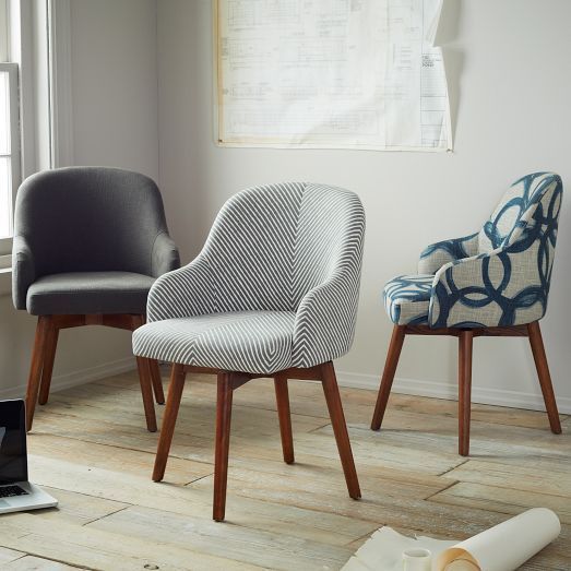 I Like These Saddle Office Chairs From West Elm   Possibly One Striped And  One Gray Part 39