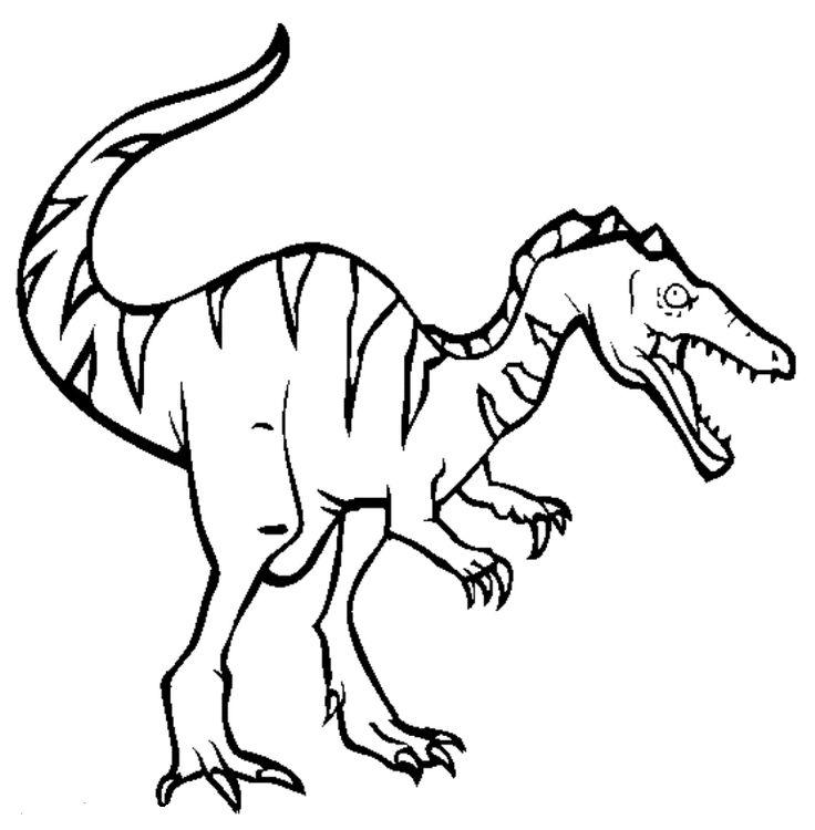 Baryonyx Dinosaur Coloring Pages