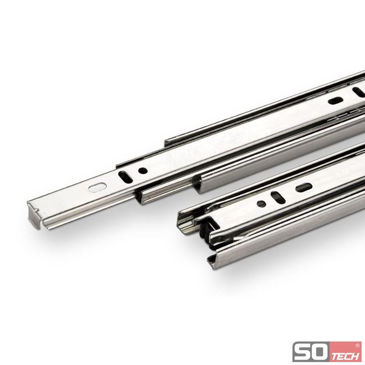 1-Paar-Vollauszuege-Schubladenschienen-Teleskopschienen-Schubladenfuehrung-Schiene