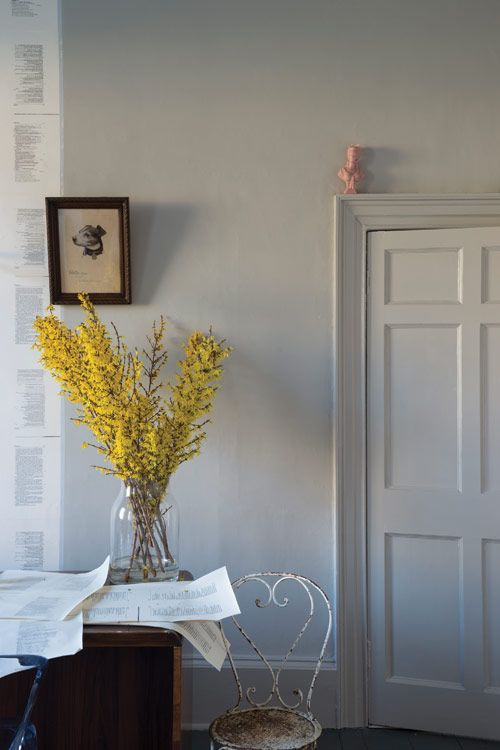 Farrow & Ball 'Purbeck Stone' A stronger neutral which resembles the stone found in the Isle of Purbeck. Works perfectly with Ammonite™ and Cornforth White.