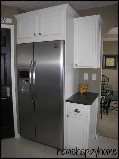 17 best ideas about refrigerator cabinet on pinterest