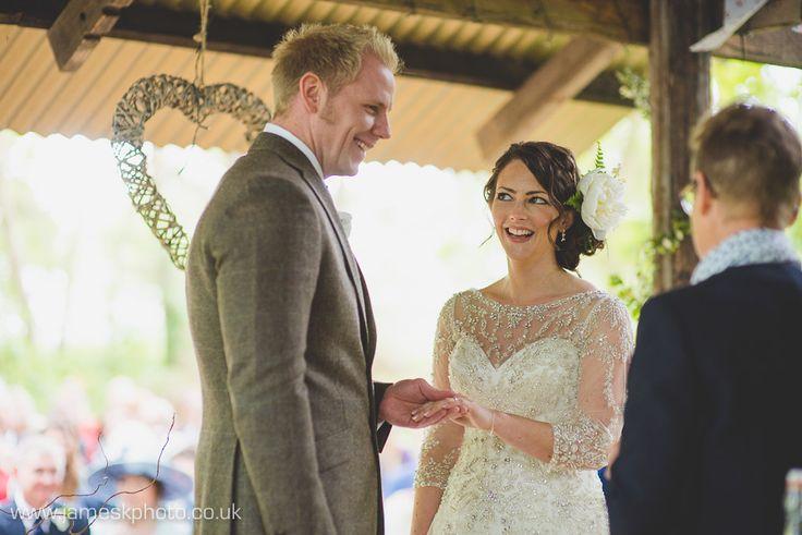 Bride & Groom. Wedding ceremony rings. Hush Venues Norfolk Outdoor Wedding Venue. Wedding in the woods. Norfolk Wedding Photographer. www.jameskphoto.co.uk
