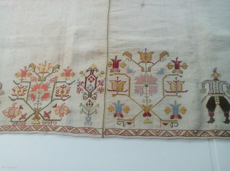 Greek embroidery from Skyros Island early 18thc. Silk on linen.