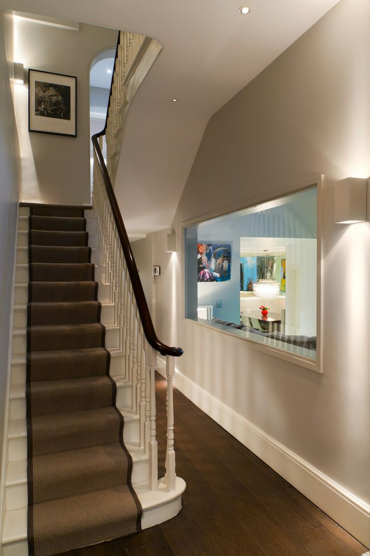 Hall and stairs Lighting design by John Cullen Lighting.