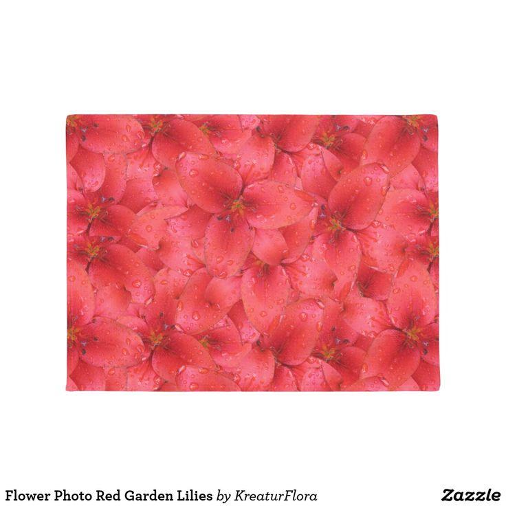 Flower Photo Red Garden Lilies