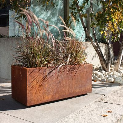 Modern Veradek Metallic Series Rectangular Planter Box | AllModern