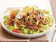 Crunchy Potluck Taco Salad recipe from Betty Crocker