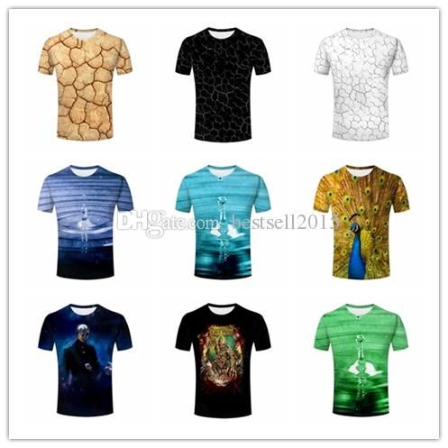 Mens Print T Shirt Dry Land Texture,Water Drop Ripple,Peacock With Beautiful Open Feathers/Fascinating Plumage,Alien,Bloody Skeleton T Shirt Shirts T Shirts T Shirts And Shirts From Bestsell2015, $10.06| Dhgate.Com