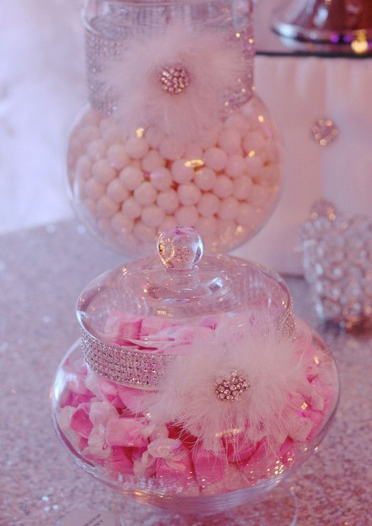 Quinceanera candy buffett, pink candy, purple candy, www.dressydesigns.com