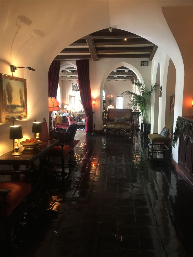 Lobby at the Chateau marmont