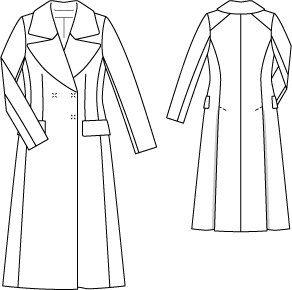 Burda Long 70s Coat 10/2014 #126