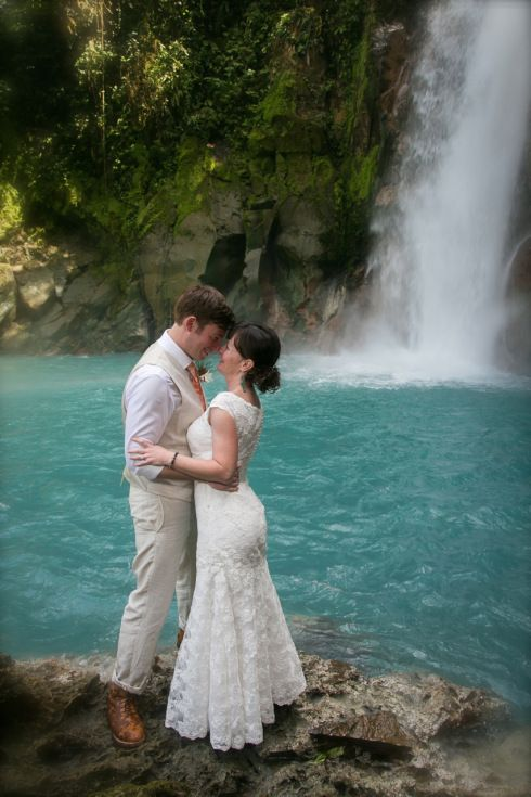 Rainforest and Waterfall Wedding at Rio Celeste, Costa ...