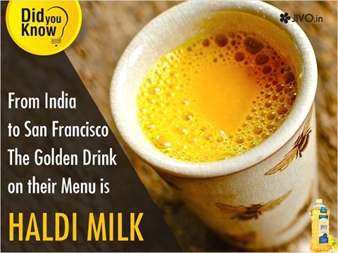 ‪#‎DidYouKnow‬ From India to San Francisco- The Golden Drink on their Menu is Haldi Milk The typical Indian beverage, Haldi milk, that our mothers and grandmothers forced us to drink a zillion times, is finally gaining popularity in the west. While, we may still crib about drinking it, people in the West are already treating it as gold. Cafes from Sydney to San Francisco are adding the 'golden milk' to their menu. What exactly is this golden milk? The golden milk is an improvised version of