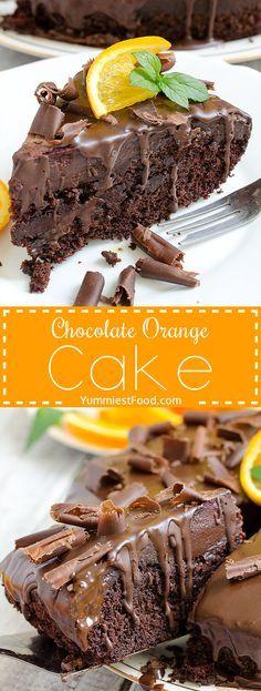 Chocolate Orange Cake - Real chocolate madness and perfect cake for chocolate…