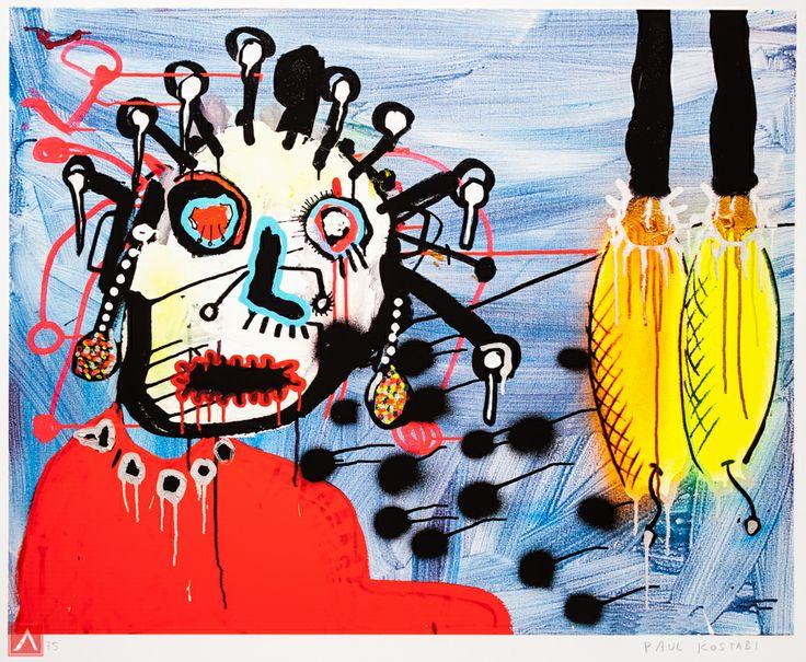 "Paul Indrek Kostabi: ""Grazing"" (2013) is a handsigned & numbered gliclée."