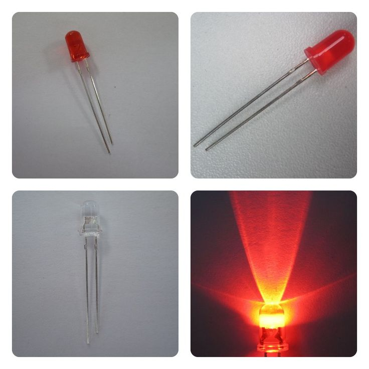 color transparent water clear diffused red round 1.2v led 5mm