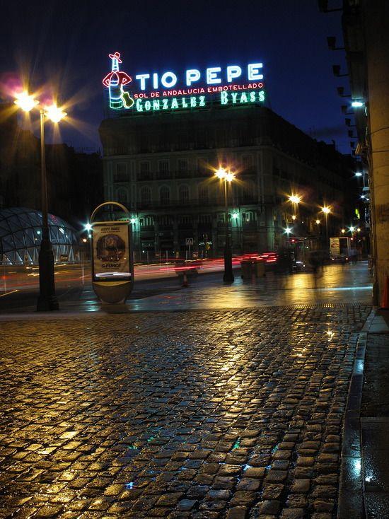 Madrid -  Spain, Tio Pepe in Puerto del Sol