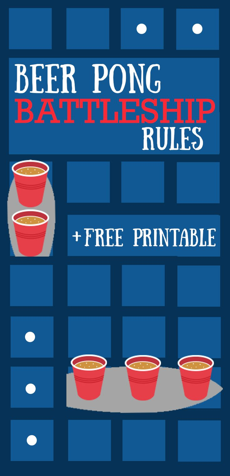 Beer Pong Battleship Rules.  Beer Pong + Battle Ship + Swimming Pool (Optional) = Best Outdoor Drinking Game  #drinking #drinkinggame #party #collegelife #beer #beerpong