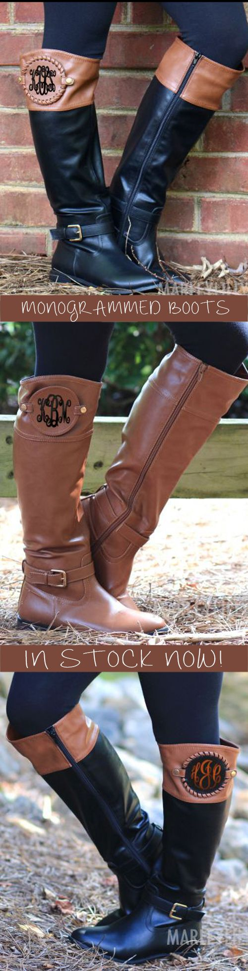 Fall Outfit must have! Monogrammed Boots from Marleylilly need to make their way into your closet! #monogramEverything