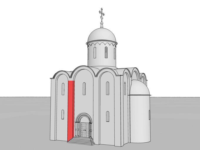 Лопатка – плоский вертикальный выступ на стене здания. В крестово-купольном храме лопатки являются конструктивными утолщениями стены; так же как и внутренние столпы, они располагаются по углам сводов.