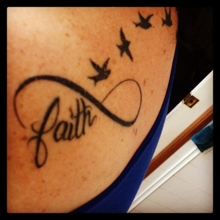 faith birds infinity tattoo tattoos pinterest. Black Bedroom Furniture Sets. Home Design Ideas
