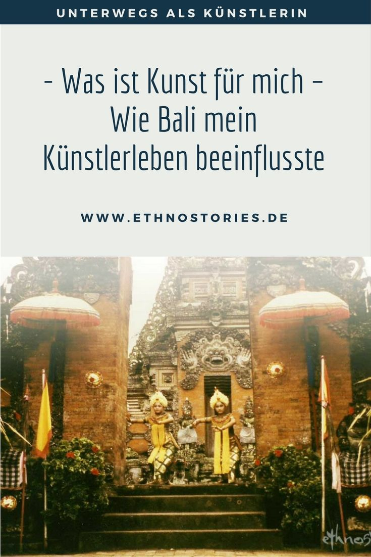 """Am Ende meines Kunststudiums, vor über 30 Jahren, reiste ich für drei Monate nach Bali, Java und Lombok. Diese Reise warf eine tiefgreifende Frage in mir auf, """"Was ist Kunst für mich ?"""" Eine Frage, über die ich oft nachdenke und sie ist Anstoß für so manchen Blogbeitrag über die Kunst und das Leben ..."""
