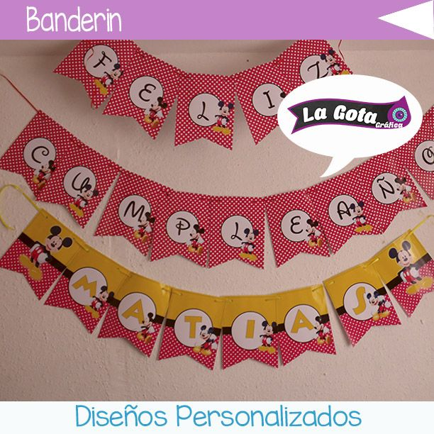 banderin Mickey Mouse