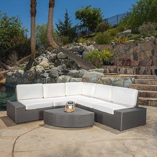 Reddington Grarden Outdoor 6pc Sofa Sectional Set Exterior Patio Chair Furniture #PatioGardenFurniture