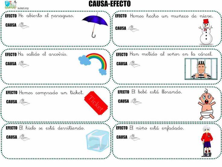 ACTIVIDADES DE CAUSA-EFECTO IMPRIMIBLES
