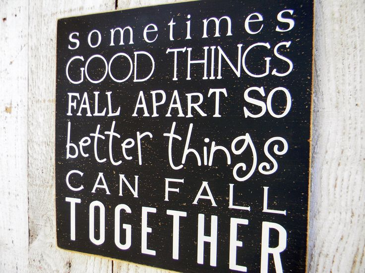 Sometimes good things fall apart so better by AmericanAtHeart, $22.00