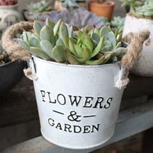 jardn maceta y jardineras de hierro macetas decorativas metal regadera macetero vendimia del estilo pastoral para