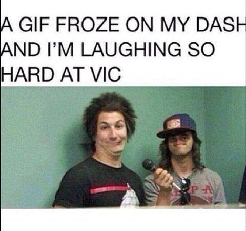 Lol. What is that horror mutating Vic's beautiful face!? His nose is gone! I'm yelling Voldemort!