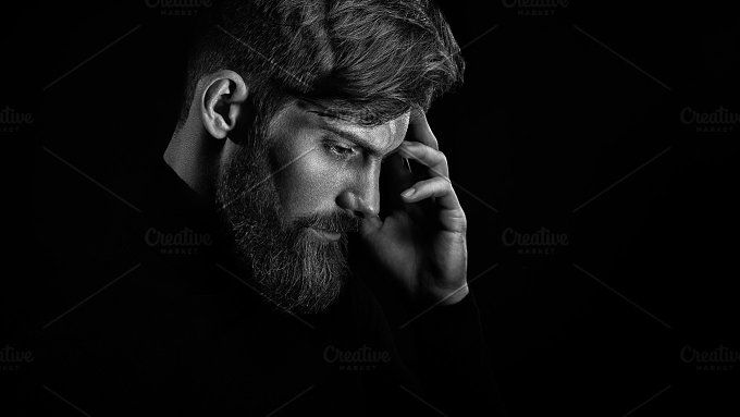 Bearded man portrait by Usmanov Stock Photography on @creativemarket
