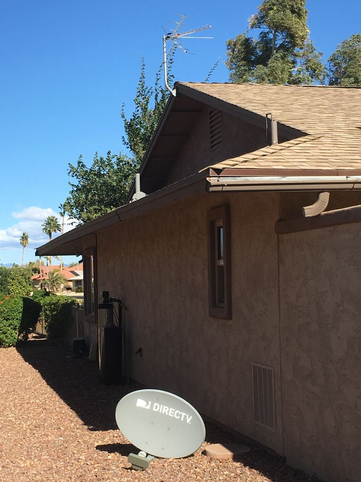 Another dish down.  Outdoor HDTV antenna installations in Sun City West, Arizona.  NO Monthly TV Payments!  www.freehdtvaz.com
