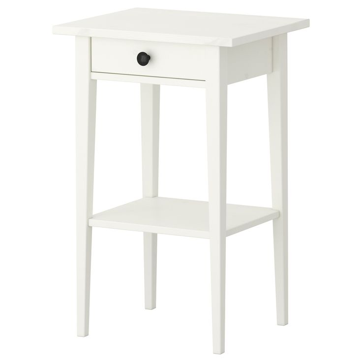 HEMNES Nightstand - white stain - IKEA $69 for guest bedroom?