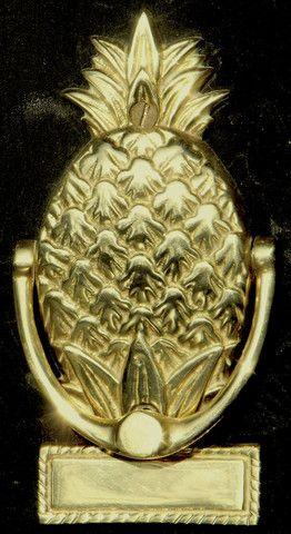 Pineapple Door Knocker - Small, Engravable