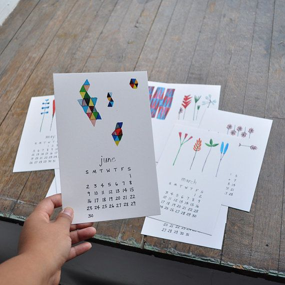 2013 Calendar - bookhouathome at Etsy