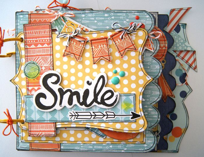 MIni Album de scrapbooking Smile, por Cristina Valenzuela para Mummy Crafts, colección My Mind's Eye, Jubilee
