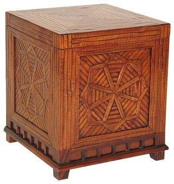 Wayborn Bamboo Trunk in Walnut - transitional - Decorative Trunks - Cymax
