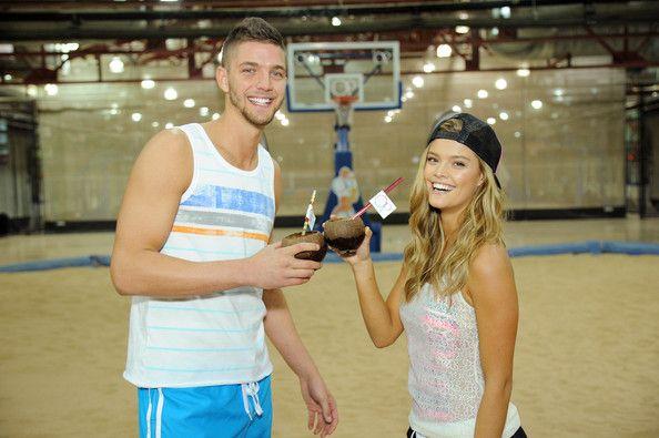 Nina Agdal Professional basketball player Chandler Parsons and model Nina Agdal pose as Op, Nina Agdal & Chandler Parsons kick off Spring on...