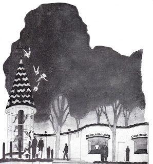 Stand Pierrot Gourmand à l'exposition internationale de 1937. Pavillon femme enfant famille. L'art Ménager - Juin 1937. coll.pers.