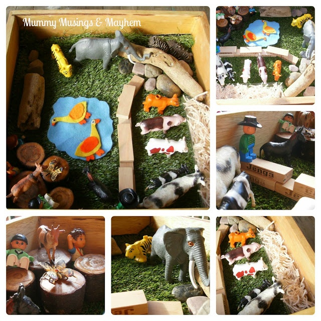 Making small world discovery boxes for toddlers! Such a fun way to learn about the many natural habitats and ecosystems across the globe, starting with those closest to home... start with where you are and build up and out from there!