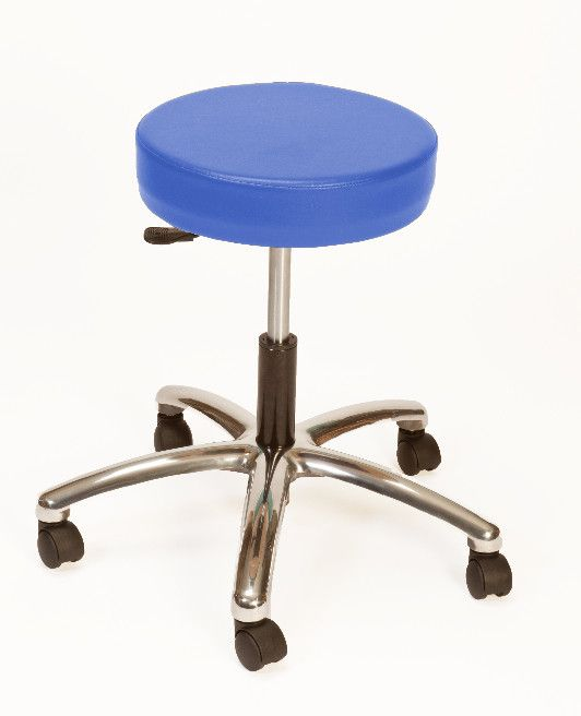 Height Adjustable Lab Stool with Duel Wheel