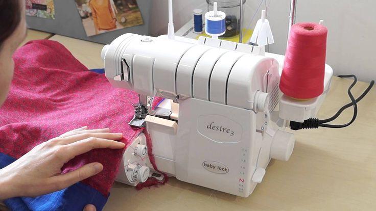 Réaliser un roulotté à la surjeteuse vidéo réalisée avec une surjeteuse Desire 3 de la marque Baby Lock Retrouvez le tuto pour réaliser le foulard sur mon bl...